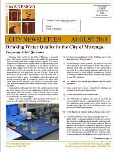 SAMPLE NEWSLETTER Cover Page 1